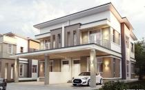 Double Storey Semi-Detached House at Sg Hanching