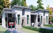 Proposed Semi-Detached Bungalow House at Gadong