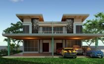 Double Storey Semi-Detached House at Dadap