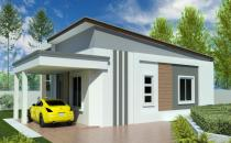 Single Storey Detached Bungalow House at Kg Bebatik