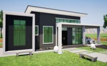 Proposed Detached Bungalow House at Bengkurong